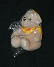Peluche doudou ours beige MINIFEET Savills bandana jaune 15 cm assis 100% NEUF
