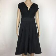 Basque Jet Black Desk to Dinner A Line Dress Size 10NWT RRP $149 (BL18)