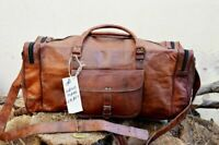 "24"" Vintage Men's Bag Leather Duffel Travel Weekend Overnight Christmas Gift JMB"