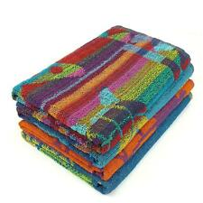 Jacquard Beach Towels 75x150cm Cotton Soft Assorted Designs Colourful Bright