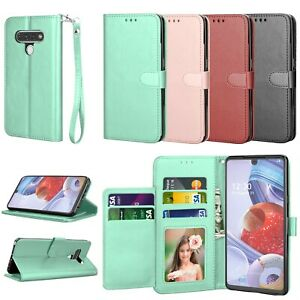 For LG Stylo 6/LG K51/Reflect/Q51 Case Wallet Leather Flip With Card Slots Stand