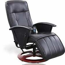 Poltrona Sedia massaggiante riscaldante reclinabile relax ufficio in ecopelle