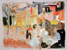 "Georges Lambert ""La parade""  Original Watercolor 1960 Hand Signed"
