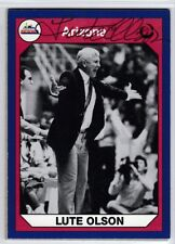 NCAA ARIZONA WILDCAT Coach LUTE OLSON Hall of Fame 2002 autographed signed card