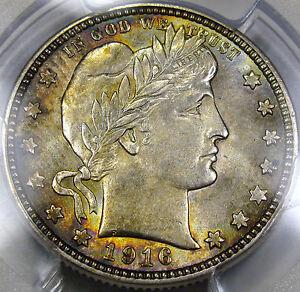 1916-D Barber Quarter Choice BU PCGS MS-63... Pretty Color, Super PQ, so NICE!!!