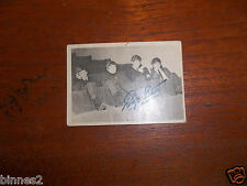 THE BEATLES TOPPS T.C.G. GUM TRADING CARD BLACK & WHITE 1st SERIES CARD NO. 12