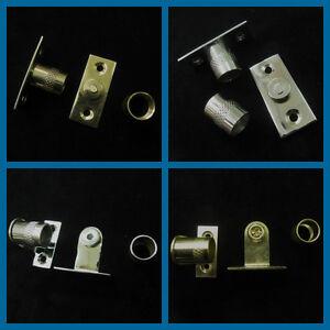 Curtain rod sockets  Brackets for 9 mm diameter net rods tube in Chrome & brass
