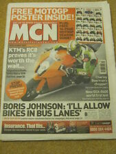MCN - MOTORCYCLE NEWS - BIKES IN BUS LANES - 5 March 2008