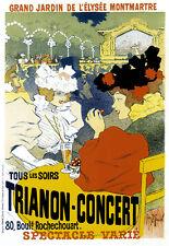 Art Deco Grand Jardin de L'elysee Montmartre French Advert A3 Art Poster Print