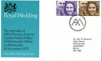 14 NOVEMBER 1973 ROYAL WEDDING POST OFFICE FIRST DAY COVER WESTMINSTER ABBEY SHS