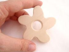 Natural Wooden Organic Teether - shape FLOWER, Waldorf (Steiner) inspired