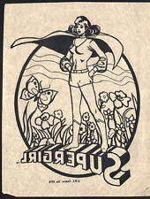 Vintage 1976 DC SUPERGIRL T-Shirt TRANSFER UNUSED w INSTRUCTIONS