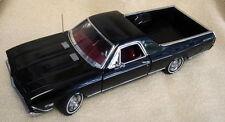 1:24 Danbury Mint 1968 Chevrolet El Camino SS-396 Nero - Rarità Scatola