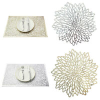 Sets de Table Chargeur Tapis lavable table de salle à manger Décor Mariage Fête Pack 4 6 8
