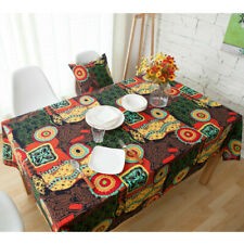 Bohemia Sunflower Cotton Linen Tablecloth Dining Rectangle Table Cover Cloth New