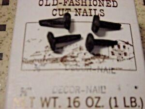 """Antique Furniture Restoration Tremont Trunk 25 Pc Lot 5/8"""" Black Decor Cut Nails"""