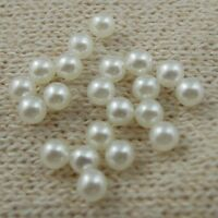 2000pcs No Hole White Color Small Pearl Beads Necklace Making Jewelry Accessory