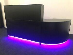 OFFICE RECEPTION  DESK LED LIGHTS REMOTE CONTROL BLACK RECEPTION DESK  COUNTER