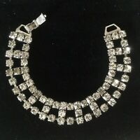 Vintage 1950s Art Deco Rhinestone Evening / Wedding / Bridal Bracelet Jewellery