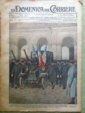 La Domenica del Corriere 14 Gennaio 1923 Gallieni Automobile Egitto Mussolini Re