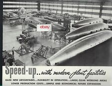 BOEING 307 STRATOLINER & FLYING FORTRESS BOMBER 1940 AUSTIN CO SEATTLE PLANT AD