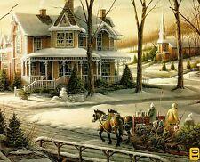 "Terry Redlin ""Homeward Bound"" Boxless Puzzle Winter Victorian Sleigh Horse *NEW*"