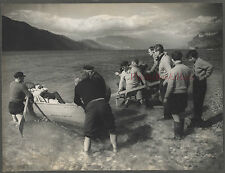 Photo orig. Tournage film Les crimes d'amour Maurice Barry Maurice Clavel 1952
