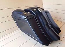 """6""""DOWN 9""""BACK EXTENDED BAGS/FENDER WITH NR.2 6X5 LIDS FOR TOURING BIKES 97-2008"""