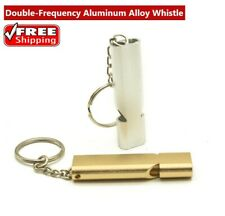 New listing Outdoor Camping Double-Frequency Emergency Survival Aerial AluminumAlloy Whistle