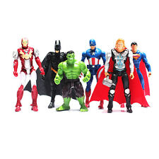 Avengers Figures Toys Marvel Super Hero Charcters 6 Pcs