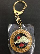 Japanese Key Ring Map Japan Gold Chain Mt Fuji Fujisan 3,776m Holder Top of