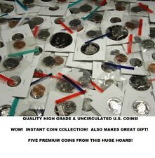 FIVE Uncirculated U.S. Coins from HUGE Estate Hoard! An Instant Coin Collection!