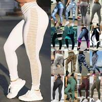 Women PUSH UP Yoga Leggings Fitness High Waist Sports Gym Workout Pants Trousers