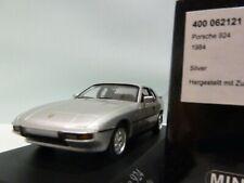 WOW EXTREMELY RARE Porsche 924 2.5L 1984 Silver 1:43 Minichamps-944-968-Spark-GT