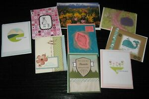 Nine (9) Blank-Thinking of You-Friendship-All Occasion Cards, most handmade