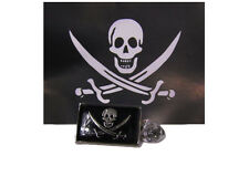 Pirate Jolly Roger Calico Jack Rackham Bike Motorcycle Hat Cap lapel Pin