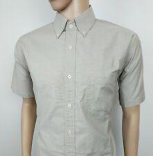 """Ben Sherman Mens Shirt Original Oxford Tan Mod Size L , 3 Chest 46"""" New RRP£75"""