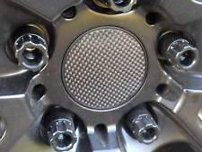 4x Cerchi in Lega Cerchioni Mozzi Coperchio Design Pellicola Carbonio Nero Molti