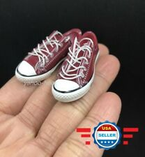 CUSTOM 1/6 scale Lace Up RED Sneakers shoes for 12'' Female Figure Body DOLL