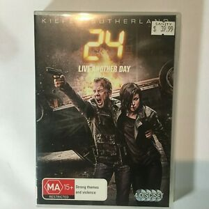 24 LIVE ANOTHER DAY - DVD 4 DISCS - KEIFER SUTHERLAND - R4 - VGC - FREE POST