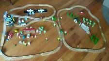 146 piece Wooden Railway/Roadway Track, Airport Plane Helicopter Lot
