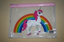 Rainbows & Unicorn Pencil Case 22cm x 17cm  Stocking Filler