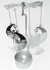 Metal Tealight Candle Holder Spinner Rotating Turning Spinning Moon Fairy