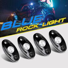 4Pcs Blue Cree Led Rock Light Pods Under Wheel Trail Offroad Atv Utv For Polaris(Fits: More than one vehicle)