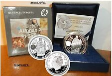 Año 2008. 10 EUROS DE PLATA. ESPAÑA. Herencia Europea, Alfonso X El Sabio.