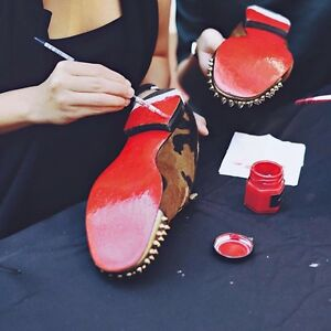 DIY Paint To Re-finish Christian Louboutin Red Bottoms Loafers Red Soles Fix