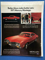 1972 Mercury MONTEGO MX 2-Door HARDTOP Original Dealer Promo Postcard UNUSED Ex