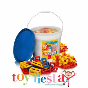 Mobilo Large Bucket - Construction Toy with 234 Pcs