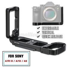 L Bracket Universal Vertical Quick Release Plate for Sony A7R III A7III  A9
