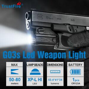 Trustfire G03S 210LM Pistol Light Tactical Gun Flashlight For Glock 17 19 21 22
